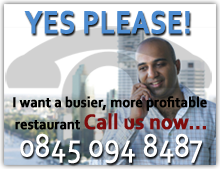 Call us now for Restaurant Marketing