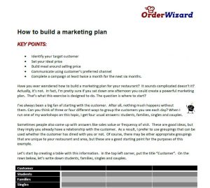 How to build a marketing plan Guide