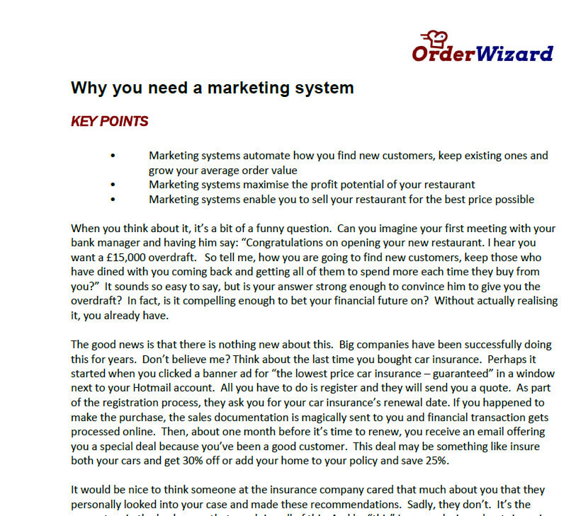 Why you need a marketing system